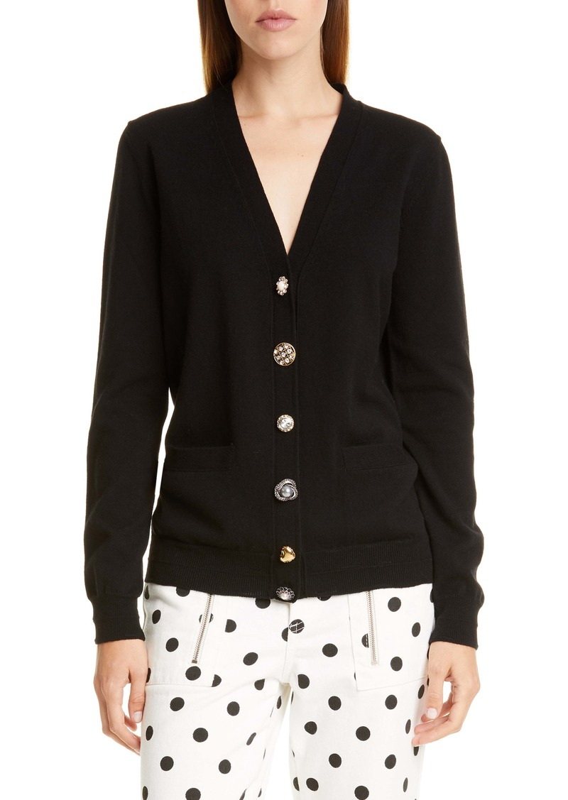 The Marc Jacobs The Jeweled Button Cardigan