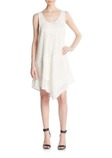 Marc by Marc Jacobs Yuki Asymmetrical Eyelet Dress