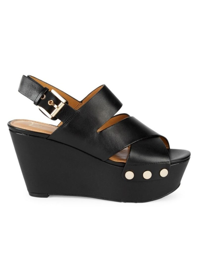Marc Fisher Bianka Leather Platform Wedge Sandals