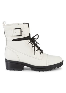 Marc Fisher Bristyn Leather Combat Boots