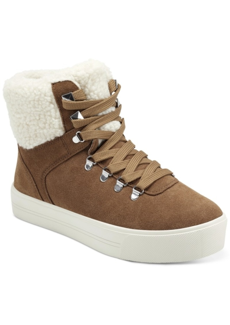 Marc Fisher Daire Faux-Fur Sneakers Women's Shoes