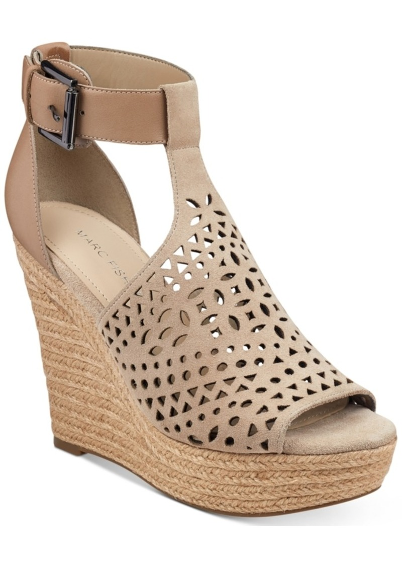 fc2546378a3c Marc Fisher Marc Fisher Hasina T-Strap Platform Wedge Sandals ...