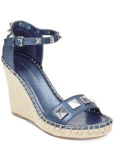 Marc Fisher Knoll Studded Wedge Sandals Women's Shoes