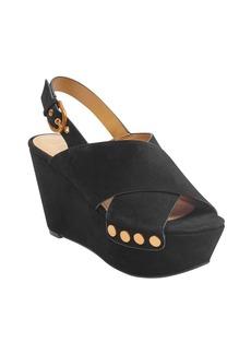 Marc Fisher LTD Barlow Suede Platform Wedge Sandals