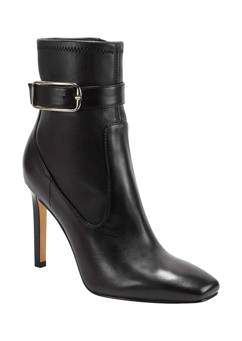 Marc Fisher LTD Cyndi Buckle Square Toe Bootie (Women)