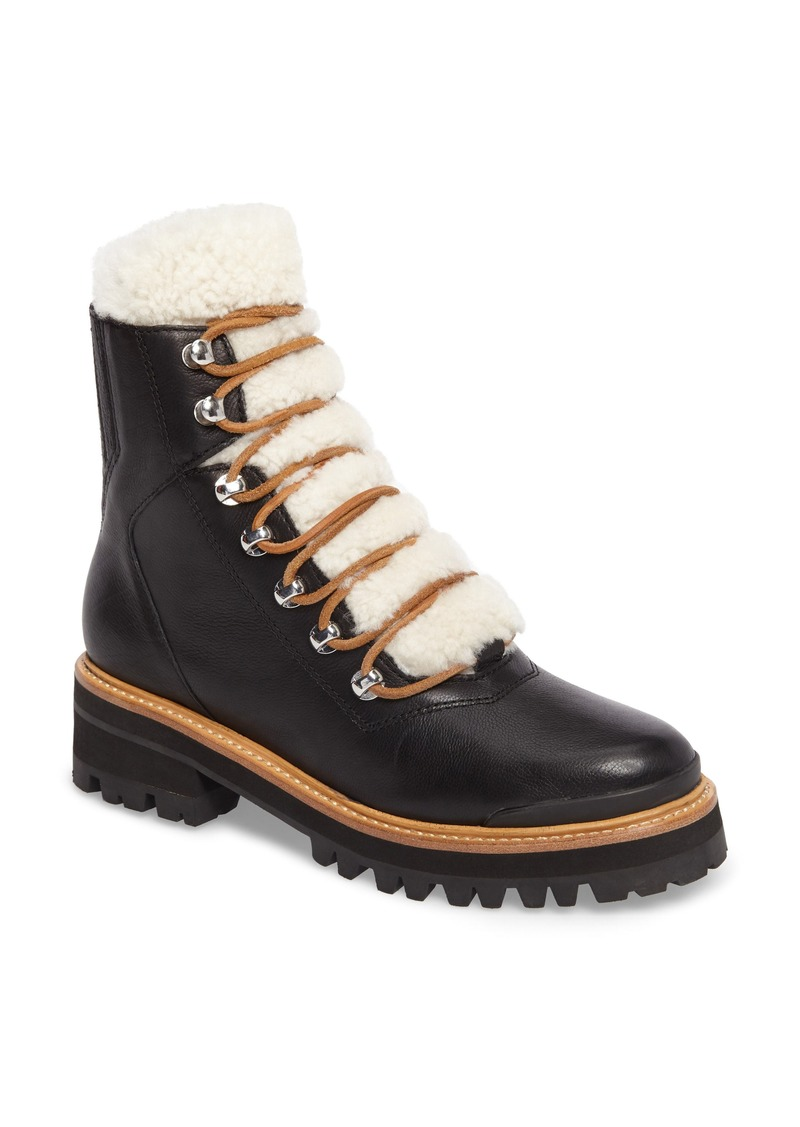 7385d404deb Marc Fisher Marc Fisher LTD Izzie Genuine Shearling Lace-Up Boot ...
