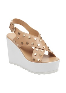 Marc Fisher LTD Miki Studded Slingback Wedge Sandal (Women)