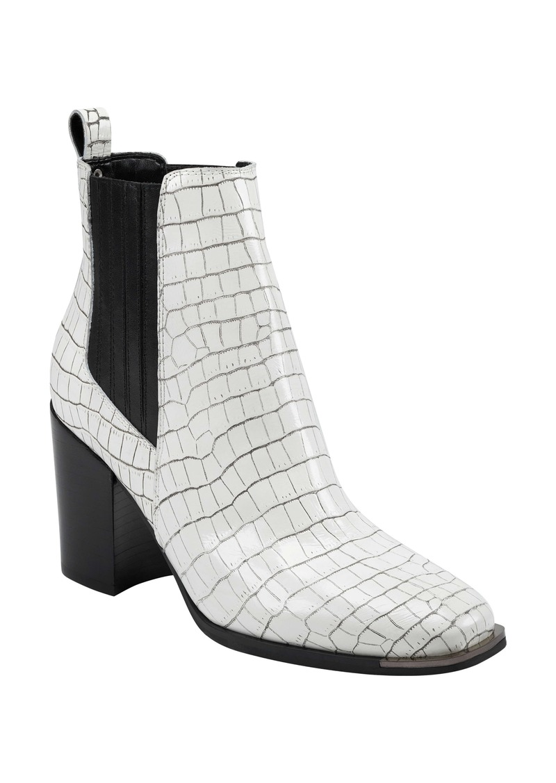 Marc Fisher LTD Taline Croc-Embossed Square Toe Boot (Women)