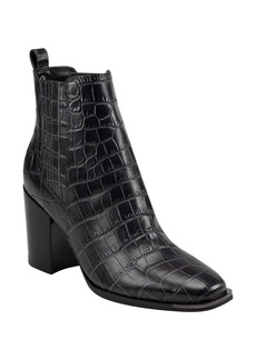 Marc Fisher LTD Taline Croc-Embossed Square Toe Boot (Women)