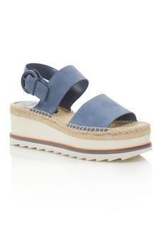 Marc Fisher LTD. Women's Greely Suede Espadrille Wedge Platform Sandals - 100% Exclusive