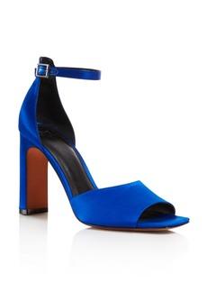 Marc Fisher LTD. Women's Harlin Satin High Heel Ankle Strap Sandals