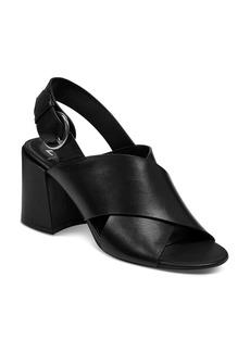 Marc Fisher LTD. Women's Hocie Leather Slingback Block Heel Sandals