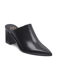 Marc Fisher LTD. Women's Zivon Leather Pointed Toe Block Heel Mules