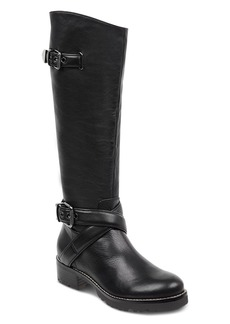 Marc Fisher Women's Round Toe Tall Motorcycle Boots