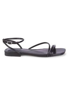 Marc Fisher Mariella Leather Flat Sandals