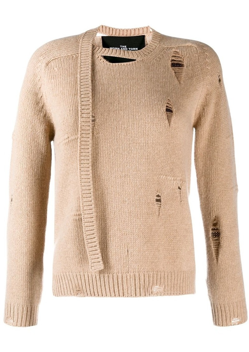 Marc Jacobs Worn Torn knitted jumper