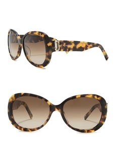 Marc Jacobs 56mm Vented Round Sunglasses