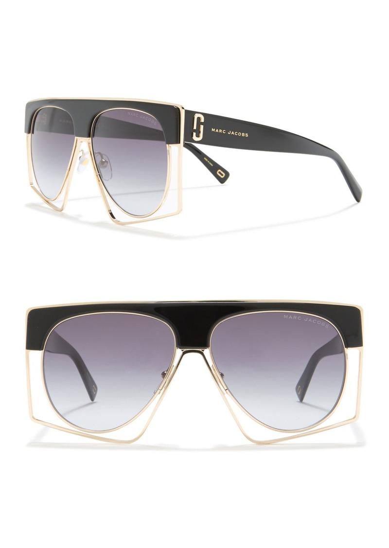 Marc Jacobs 58mm Rectangle Sunglasses