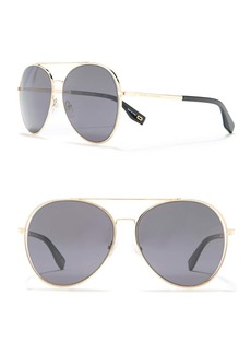 Marc Jacobs 60mm Aviator Sunglasses