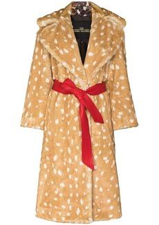 Marc Jacobs animal print tied waist coat