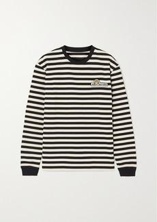 Marc Jacobs Appliquéd Striped Cotton-jersey Top