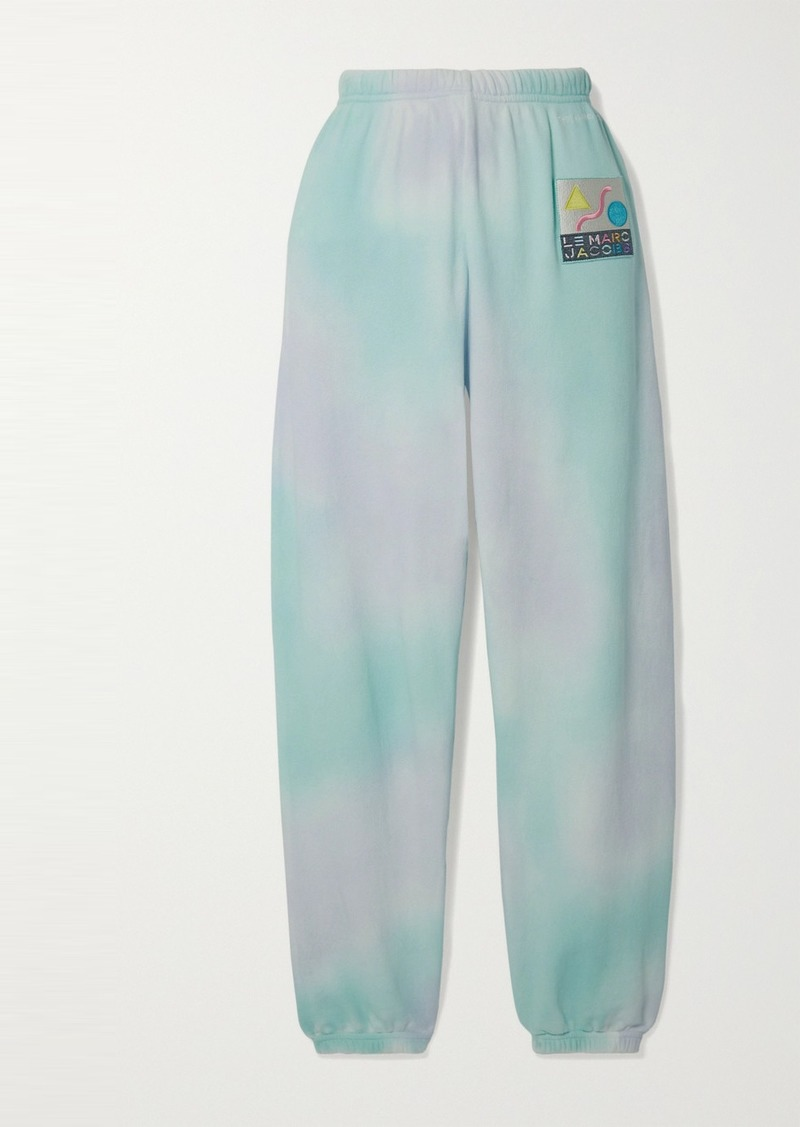 Marc Jacobs Appliquéd Tie-dyed Cotton-terry Track Pants