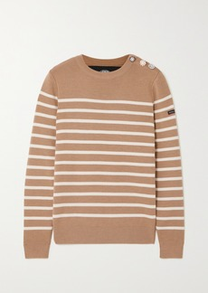 Marc Jacobs Armor Lux The Breton Embellished Striped Wool Sweater
