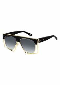 Marc Jacobs Aviator Shield Metal Sunglasses