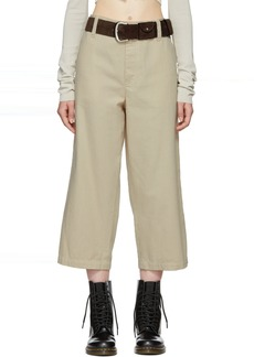 Marc Jacobs Beige & White Redux Grunge Dobby Stripe Trousers