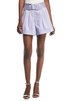 Marc Jacobs Belted High-Waist Shorts