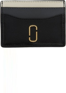 Marc Jacobs Black & Grey Snapshot Card Holder