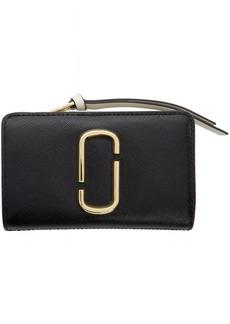 Marc Jacobs Black & Grey Snapshot Compact Wallet