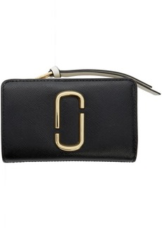 Marc Jacobs Black & Grey Snapshot Compact Wallet
