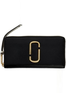 Marc Jacobs Black & Grey Snapshot Standard Continental Wallet
