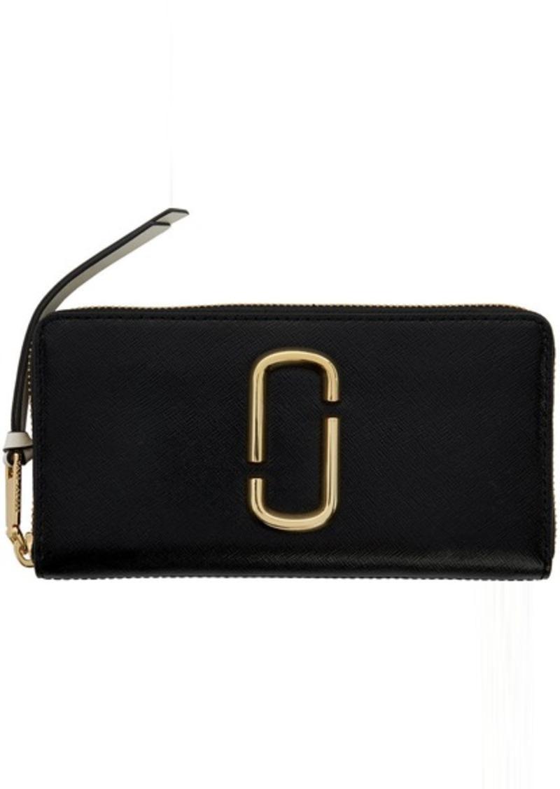 Marc Jacobs Black & Grey Snapshot Standard Continental Wallet