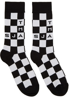 Marc Jacobs Black & White 'The Logo' Socks