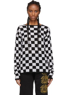 Marc Jacobs Black & White Wool Checkered Sweater