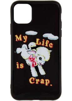 Marc Jacobs Black Magda Archer Edition 'My Life Is Crap' iPhone 11 Case