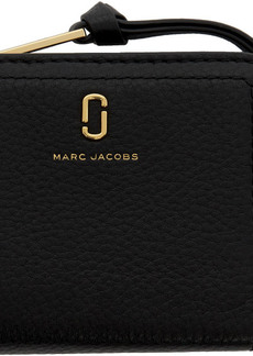 Marc Jacobs Black Mini Softshot Compact Wallet