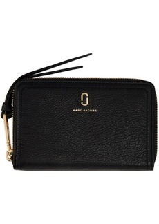 Marc Jacobs Black Small 'The Softshot' Continental Wallet