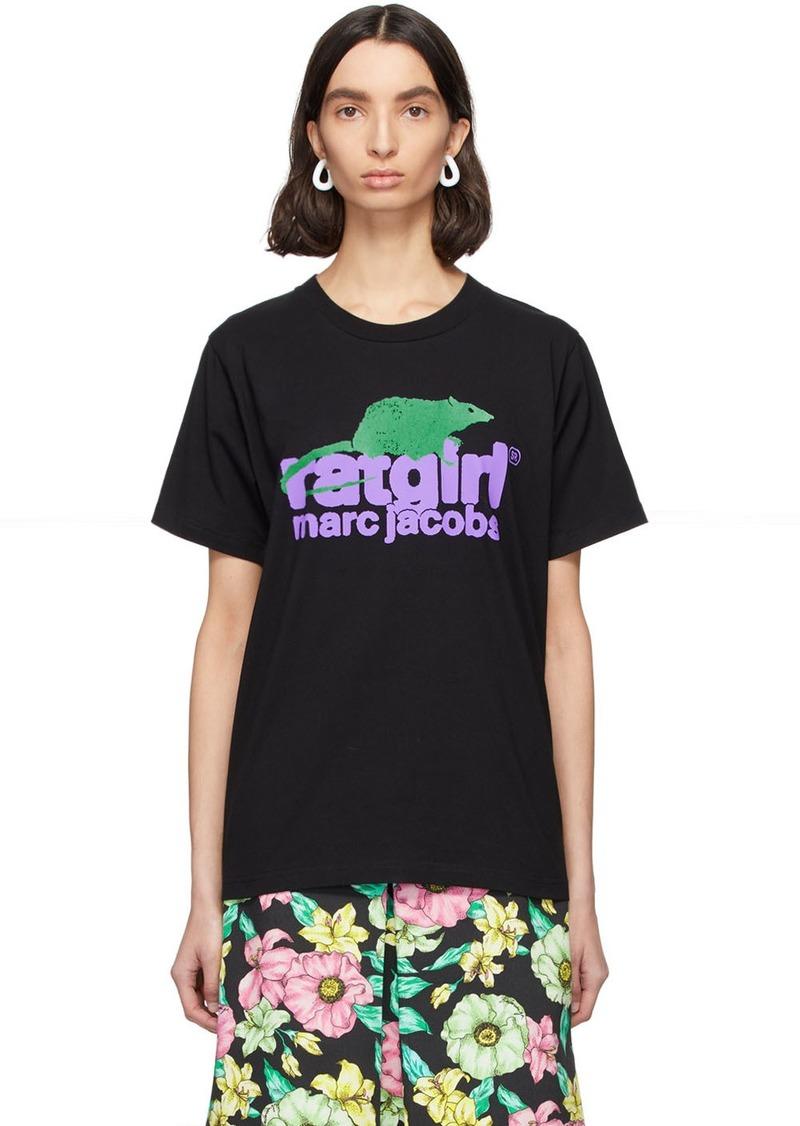 Marc Jacobs Black Stray Rats Edition 'Rat Girl' T-Shirt