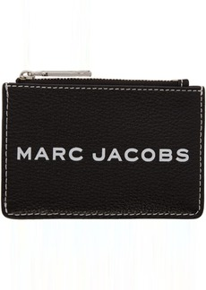 Marc Jacobs Black Textured Tag Top-Zip Multi Wallet
