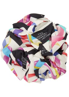 Marc Jacobs Black 'The Logo Print' Scrunchie