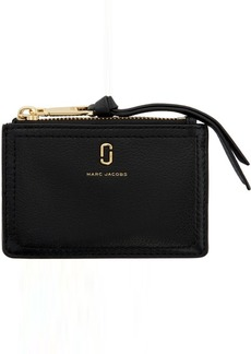 Marc Jacobs Black 'The Softshot' Top Zip Wallet
