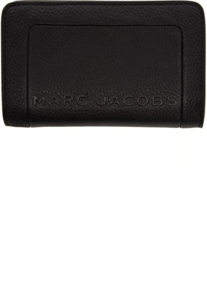 Marc Jacobs Black 'The Textured Box' Compact Wallet