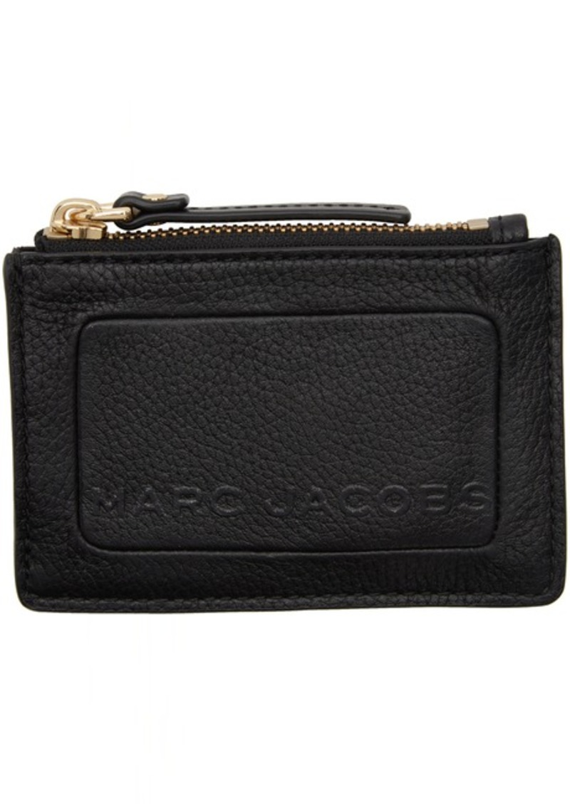 Marc Jacobs Black 'The Textured Box' Top Zip Card Holder