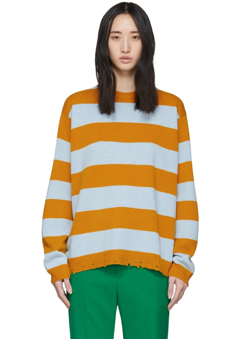 Marc Jacobs Blue & Yellow Wool Grunge Sweater