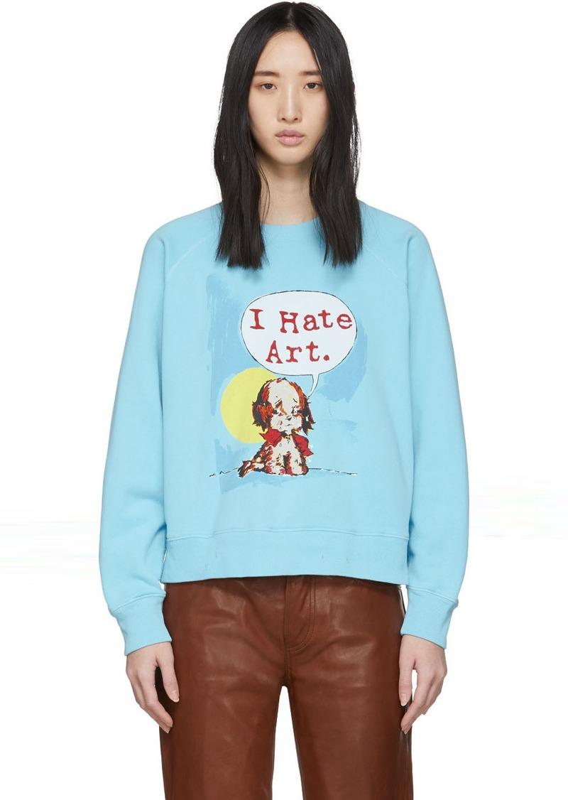Marc Jacobs Blue Magda Archer Edition 'I Hate Art' Sweatshirt