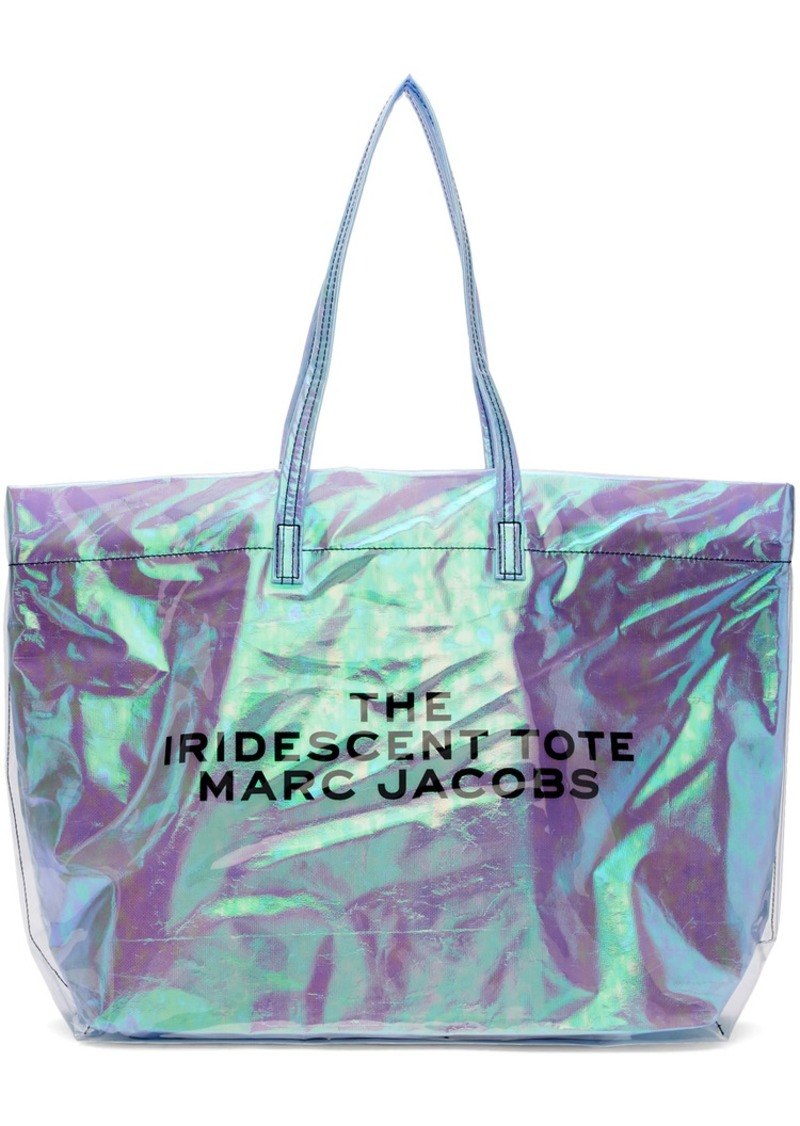 Marc Jacobs Blue PVC 'The Iridescent' Tote