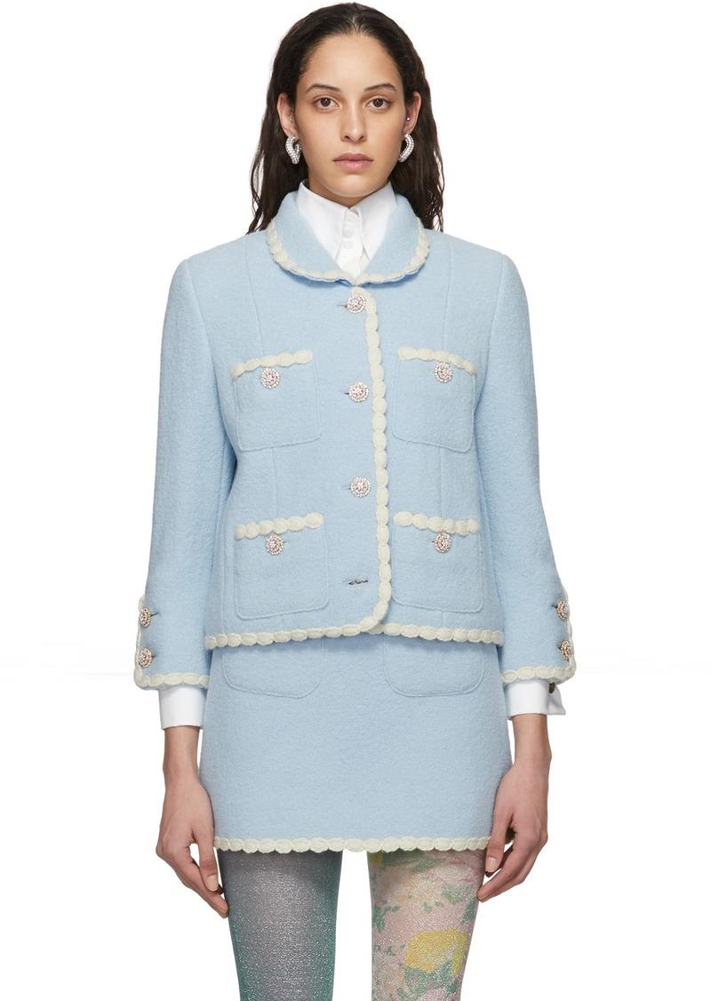 Marc Jacobs Blue 'The Tweed' Jacket